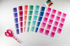 Free Printable Planner stickers. Ombre Heart Checklists | Casually Unexpected