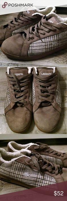 8d08692bf49fd Lacoste Graduate Tartan Sneakers size 13 Lacoste Graduate Tartan fleece-lined  sneakers. Men s size