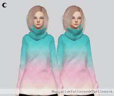 Kalewa-a: Patterned Turtleneck • Sims 4 Downloads