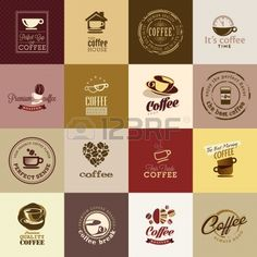 Set of coffee icons Stock Vector