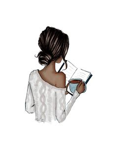 Girly Drawings, Art Drawings, Fashion Sketches, Art Sketches, Coffee Girl, Anime Art Girl, Cartoon Art, Cute Art, Book Art