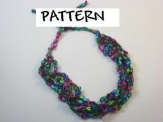 Ladder+Yarns+Necklaces+Free+Pattern | trellis yarn crocheted necklaces and other unique yarn jewelry styles