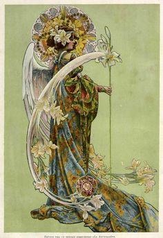 Study for atriptychsymbolizing The Annunciation, Gaspar Camps. 1905. Via