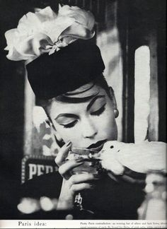 Vogue 1957- love the hat, where are the gloves?