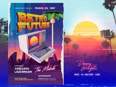 """Check out my @Behance project: """"Retro Future 80's Synthwave Flyer Template"""" https://www.behance.net/gallery/51828101/Retro-Future-80s-Synthwave-Flyer-Template"""