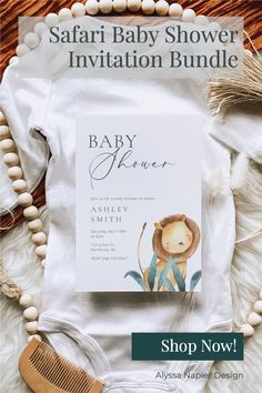 This printable lion baby shower bundle is perfect for your safari-themed baby shower! The invitation and insert cards are entirely editable using the online program Canva! You do not need to download any software to edit your templates. Edit, download, and print within minutes! Shower Party, Baby Shower Parties, Baby Shower Themes, Baby Showers, Shower Ideas, Lion Baby Shower, Gender Neutral Baby Shower, Diaper Raffle, Romans