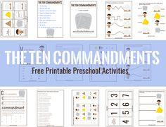 The 10 Commandments Activities – Mary Martha Mama