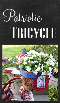 Patriotic tricycle for the porch
