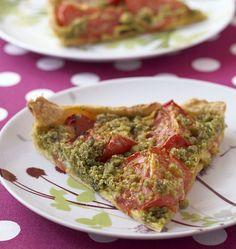 Tarte tomates au crumble de pistache et menthe - Recettes de cuisine Ôdélices
