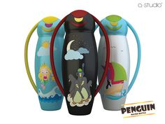 design a water bottle   ... : Creative Package Design Archive and Gallery: Penguin Water Bottle