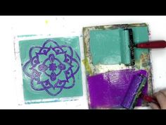Gel Printing with Impressables and the Rainbow - Carolyn Dube