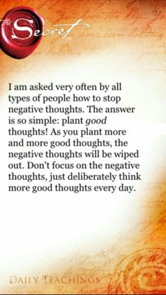 Plant good thoughts