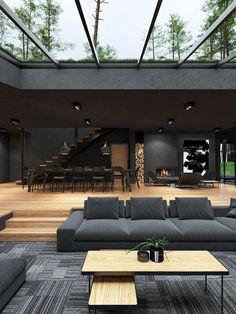 Dream House Interior, Luxury Homes Dream Houses, Dream Home Design, Modern House Design, Home Interior Design, Loft Design, Modern Architecture House, Interior Architecture, Amazing Architecture