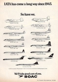 BOAC  to the dawn of British Airways