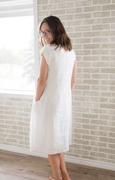 Carmen Mauve Dress, White Dress, Comfortable Fashion, Model, Cotton, Shopping, Collection, Dresses, Mathematical Model