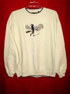 Mens golfing sweatshirt-XL-Croft & Barrow-Cream-Old Time-Free Shipping 2 USA #CroftBarrow #SweatshirtCrew