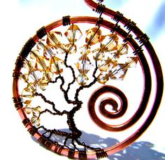 RESERVED Tree of Life Dark Copper Wire with by CarrieEastwood