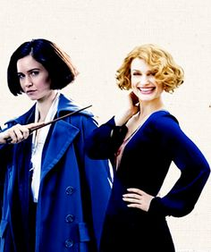 Goldstein sisters These sisters are orphans, they raised each other. Queenie can read minds, and Tina is a demoted Auror. J.K Rowling