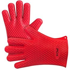 X-Chef Silicone Oven Gloves, Heat Resistant Silicone Oven Mitts, Kitchen Cooking Gloves with Cotton Lining, Silicone Gloves for BBQ Baking Grilling, Dishwasher Safe Barbecue, Grill Oven, Bbq Grill, Kitchen Gloves, Silicone Bakeware, Grill Accessories, Tabletop Accessories, Kitchen Accessories, Four Micro Onde