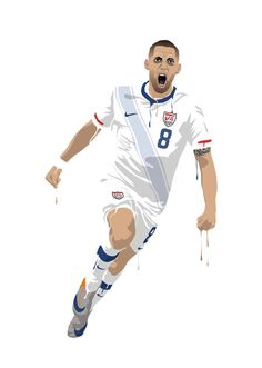 Clint Dempsey SRA3 print by Footynews on Etsy, €20.00