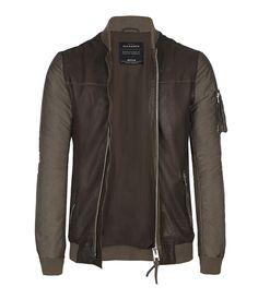 AllSaints Branton Leather Bomber Jacket | Mens Leather Bomber Jackets