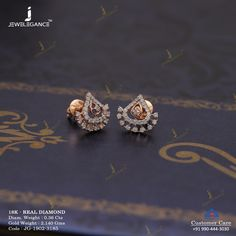 Get In Touch With us on Jewelry Design Earrings, Gold Earrings Designs, Necklace Designs, Pearl Jewelry, Gold Jewelry, Jewelery, Real Diamond Earrings, Gold Diamond Earrings, Diamond Mangalsutra
