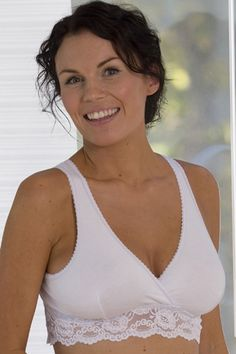 e917729b06f65 Blossom Mother & Child ~ Carriwell Lace Nursing Bra ~ This cotton lace nursing  bra has