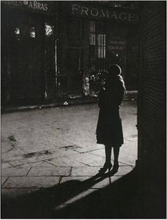 "Brassai - Prostitute at angle of Rue de la Reynie and Rue Quincampoix From ""Paris by Night"" 1933"