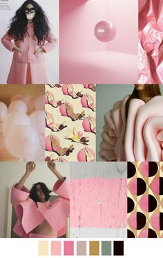 Double Bubble // Sickly sweet bubble gum pinks  pastels, with a darker hint of blue and black