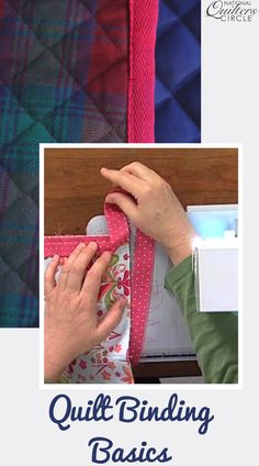 Finishing a quilt with binding isn't a difficult thing to learn. Check out these quilt binding basics from National Quilters Circle Sewing Tips, Sewing Hacks, Circle Quilts, Craft Projects, Craft Ideas, Quilt Binding, Hobby Ideas, Sewing Class, Quilting Tips