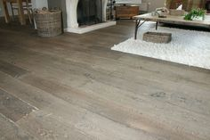 Grey driftwood flooring - Loves this! Reclaimed Oak Flooring, Driftwood Flooring, Floor Colors, House Colors, Before After Home, Home Structure, Master Bedroom Makeover, Park Homes, House Extensions