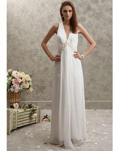 Sheath/Column V-neck Shell Chiffon Floor-length Maxi Dress