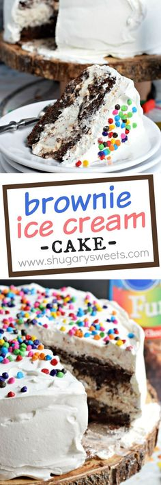 Cookies and Cream Brownie Ice Cream Cake: the perfect dessert recipe! Cookies and Cream Brownie Ice Cream Cake: the perfect dessert recipe! Mini Desserts, Ice Cream Desserts, Frozen Desserts, Ice Cream Recipes, Easy Desserts, Dessert Recipes, Cake Recipes, Frozen Treats, Recipes Dinner