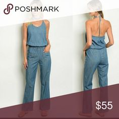 Jean Jumpsuit 100% cotton. Super comfortable. Great look for the fall paired with a military jacket and booties! Pants Jumpsuits & Rompers