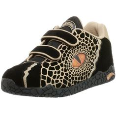 Dinosoles Double Eye Hook-And-Loop Sneaker (Toddler/Little Kid/Big Kid) Dinosoles. $39.95. Realistic 3-D Dino eye on sides of shoes. suede. Rugged three color claw print outsole. Made in China. Adjustable hook & loop closure. Rubber sole