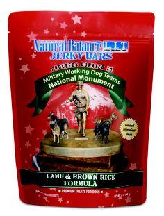 Enjoy 50% off Natural Balance Jerky Bar Treats now through July 31st (12 oz bag). A portion of the proceeds will go to the Working Dog Teams National Monument to be installed at Lackland AFB in San Antonio, Texas #madeintheUSA #unleashedbypetco