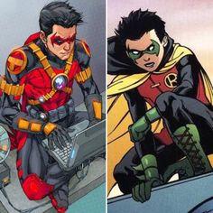 Red Robin. Tim Drake. Damian Wayne. Robin.