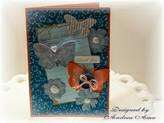 The Curtsey Boutique.  Thank You card by designer, Andrea Amu.