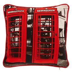 George Home Red Phone Box Cushion