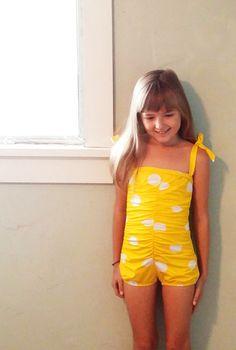 madeline in sunburst #reyswimwear #reyswimwearlittles ##toddlerswimsuit #modestswimsuit