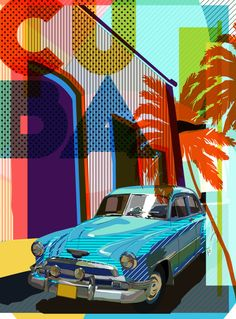 Colourful Cuba illustration | Sam Osborne