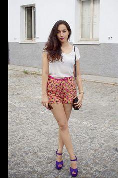 Moda en la calle verano en madrid: shorts de Primark (Vogue)
