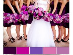 We had a few weddings this season with this color scheme. Very rich and saturated colors. We love it!