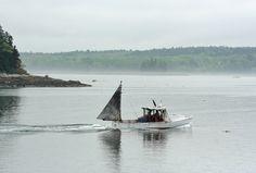 Lobster boat off Hog Island - david scheirer #Maine #coast