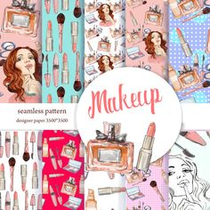 makeup digital paper..collection of seamless от MitrushovaArt