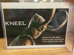 Loki says kneel! Fun library displays
