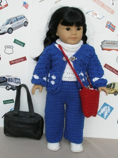 OFF TO SEE THE WORLD CROCHET PATTERN - FROM Knitting for Dolls
