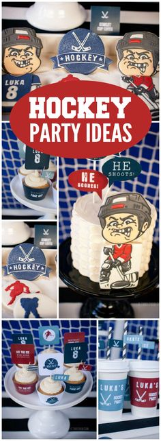 Check Out This Hockey Themed Boy Birthday Party See More Ideas At CatchMyParty