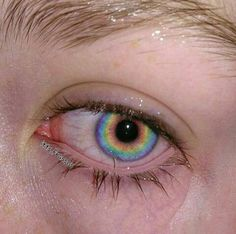 Eyes, aesthetic, and rainbow image Aesthetic Eyes, Rainbow Aesthetic, Aesthetic Makeup, Gay Aesthetic, Witch Aesthetic, Rainbow Eyes, Rainbow Makeup, Images Esthétiques, Eye Photography