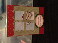 Merry Christmas card Stampin' Up. Could for anything to put into the windows, flowers etc